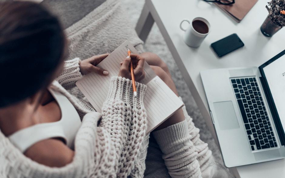 Stressbewältigung mit Gedanken aufschreiben