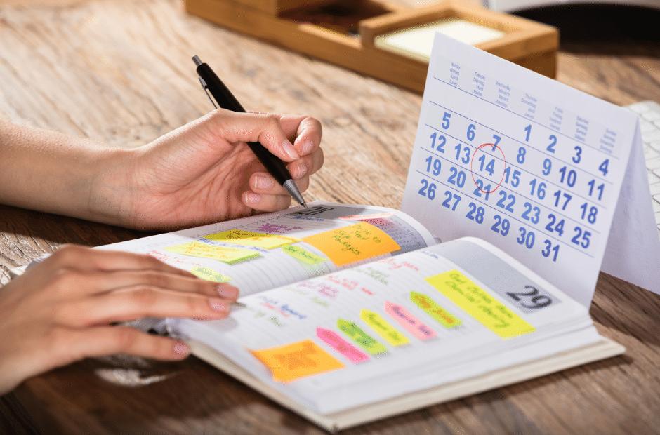 Stressbewältigung mit Kalender