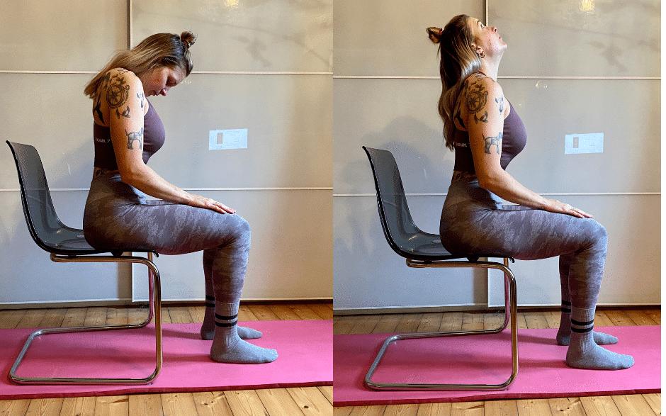 Nacken Entspannungsübungen - Vor- und Rückwärtsneigung